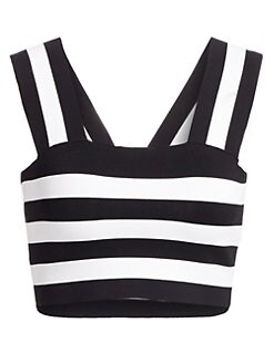 b503a6d88aac Tia Stripe Crop Top WHITE BLACK. QUICK VIEW. Product image