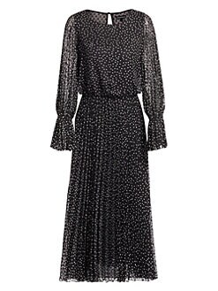 16a8b21805b QUICK VIEW. Emporio Armani. Polka Dot Pleated Tea Dress