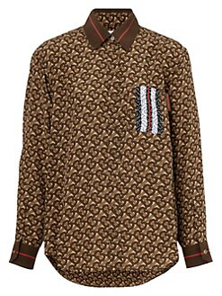 9f739be60 QUICK VIEW. Burberry. Monogram Juliette Printed Silk Shirt
