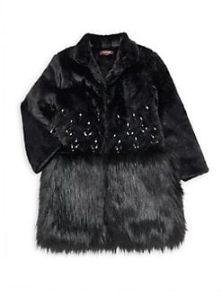 7d842a53f76a4 QUICK VIEW. Imoga. Little Girl s   Girl s Bejeweled Faux Fur Coat