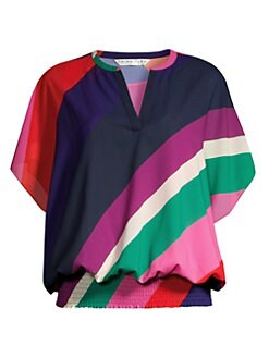 f0100962a8 Trina Turk - Modernism Colorblock Chiffon Top