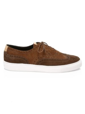 Grenson Suede Wingtip Brogue Sneakers