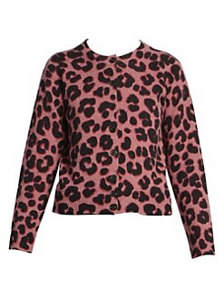 4902762caf75 Product image. QUICK VIEW. Marc Jacobs. The Leopard Print Wool Cardigan