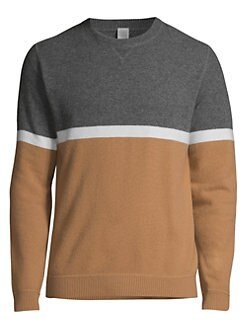 3c885b8a7bc555 Eleventy. Modern-Fit Colorblock Wool & Cashmere Sweater