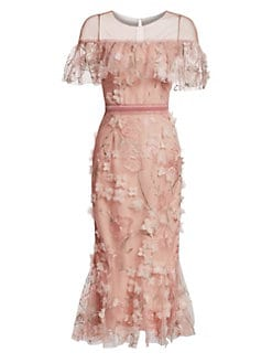 0c46a3a698 Product image. QUICK VIEW. Marchesa Notte. Off-The-Shoulder Floral Illusion  Sheath Dress