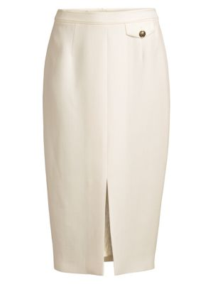 Escada Randuxina Front Slit Pencil Skirt