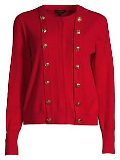 f872b8a93c Soloria Wool   Cashmere Cardigan MEDIUM RED. QUICK VIEW. Product image