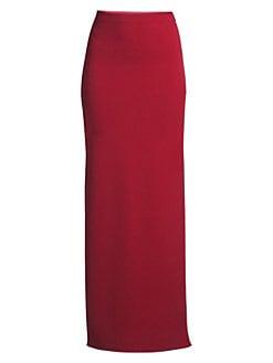 a4e983c416 Herve Leger. Side-Slit Maxi Knit Skirt