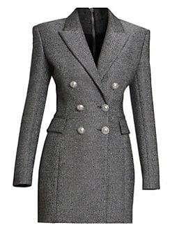 22240967 Balmain. Double Breasted Wool-Blend Jacket Dress