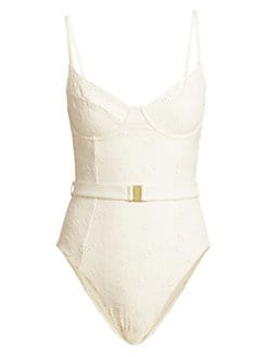 17a203bd8726 Product image. QUICK VIEW. Onia. Onia X WeWoreWhat Danielle Eyelet One-Piece  Swimsuit