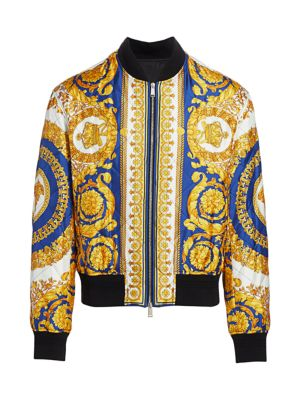 Versace Padded Mixed Print Jacket