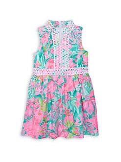 e56577a86c00 Lilly Pulitzer Kids. Little Girl's & Girl's Mini Franci Floral Dress