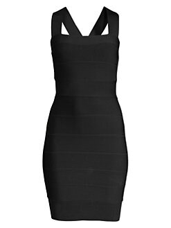 de2e8c85 Herve Leger. Sleeveless Mini Bodycon Dress