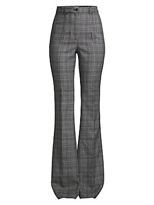 High Waist Virgin Wool Flare Trousers by Michael Kors Collection