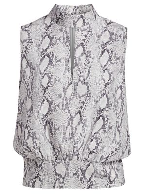 Frame Python Print Silk Party Top