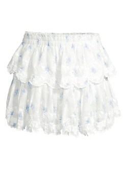 ec63b44e5 Product image. QUICK VIEW. LoveShackFancy. Ruffle Cotton Mini Skirt