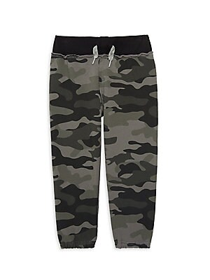 Image of A fan-favorite, these elasticized camo sweats flaunt retro styling. Elasticized faux-drawstring waistband Slip-on style Elasticized cuffs Cotton/polyester Machine wash Imported. Children's Wear - Contemporary Children > Saks Fifth Avenue. Appaman. Color: