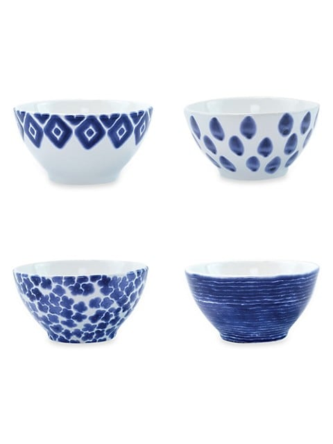 Vietri Viva Santorini 4 Piece Assorted Ceramic Cereal Bowl Set Saksfifthavenue