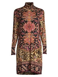 9ae501a3af QUICK VIEW. Etro. Nomad Animal-Print Turtleneck Dress