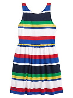 80d08717515c QUICK VIEW. Ralph Lauren. Little Girl's & Girl's Striped Cotton Jersey Dress