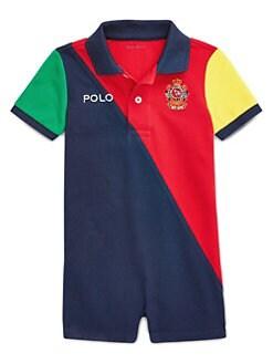 f93f5c18f Ralph Lauren. Baby Boy's Colorblock Polo Shortalls