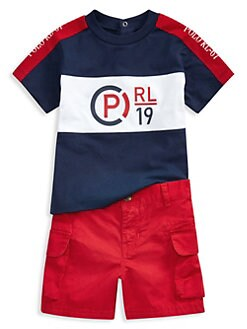 4bb62562c Product image. QUICK VIEW. Ralph Lauren. Baby Boy's Two-Piece Cotton Tee &  Cargo Shorts Set