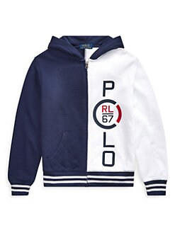 9c52655ca Product image. QUICK VIEW. Ralph Lauren. Little Boy's & Boy's Logo French  Terry Hoodie