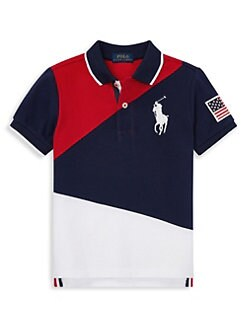 cdcd03c8 Product image. QUICK VIEW. Ralph Lauren. Little Boy's & Boy's Cotton Mesh  Polo Shirt