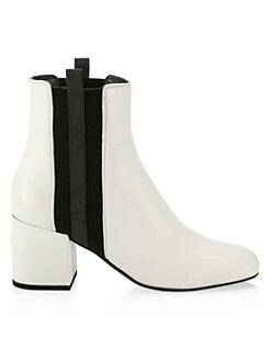 7b396c00f50 Product image. QUICK VIEW. Brunello Cucinelli. Colorblock Pull-On Leather  Booties