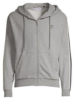 9fb8965f Product image. QUICK VIEW. The Kooples. Racing Stripe Zip Up Hoodie