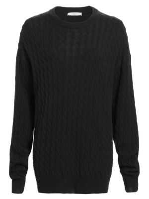 The Row Minorj Cashmere Silk Cable Knit Sweater