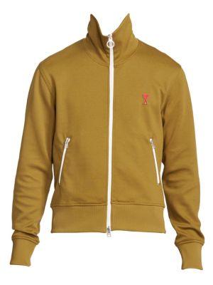 Ami Paris Ami De Coeur Front Zip Sweatshirt