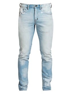6a4ed6ae0c8133 Windsor Hand Painted Stretch Skinny Jeans LIGHT BLUE. QUICK VIEW. Product  image