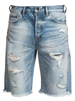a134e6bb55c Destroyed Denim Shorts LIGHT BLUE. QUICK VIEW. Product image