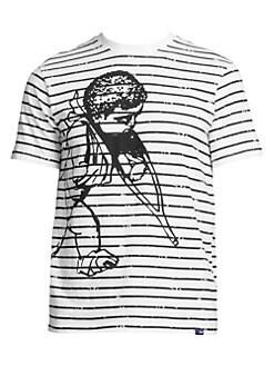 7a5eed19 PRPS. Big Cherub Striped T-shirt