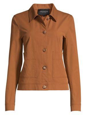 Lafayette 148 New York Skylar Stretch Cotton Utility Jacket
