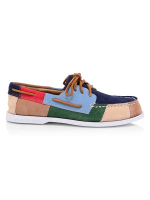 Sperry Patchwork Suede Boat Shoes