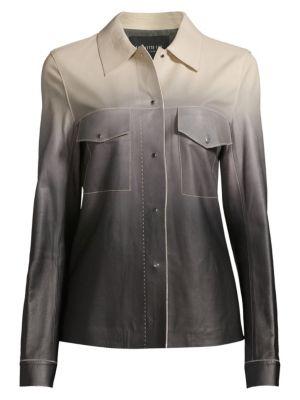 Lafayette 148 New York John Ombr Leather Jacket