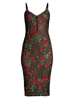 03e371f22ec1 BCBGMAXAZRIA. Embroidered Rose Lace Cocktail Dress