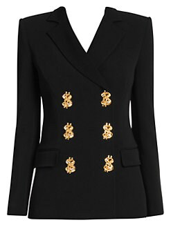 7e4164e9 Moschino. Prize Winner Double-Breasted Blazer