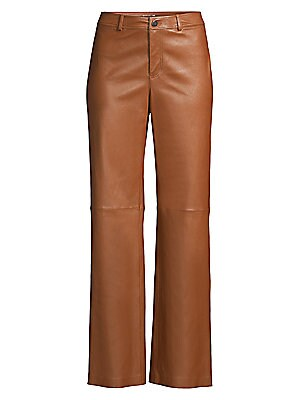 Clark Leather Pants by Lafayette 148 New York