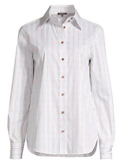 0344ed1e QUICK VIEW. Lafayette 148 New York. Jame Tattersall Shirt