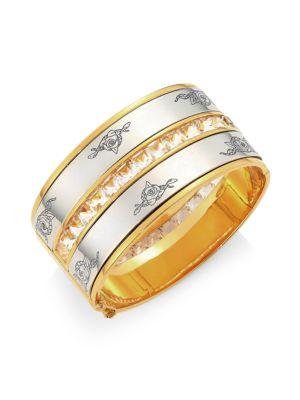 Alexander Mcqueen Swarovski Crystal Bangle Bracelet