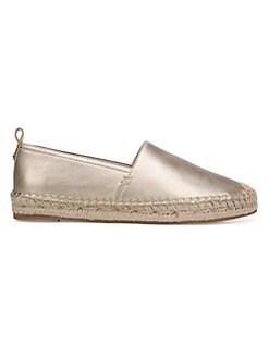 504a066fd Sam Edelman. Khloe Metallic Espadrille Leather Loafers