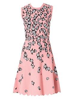 f6f24405d7d4d QUICK VIEW. Carolina Herrera. Knit Jacquard Scallop Dress