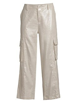 c457871e90ee03 Alice + Olivia. Mera Metallic Cargo Pants