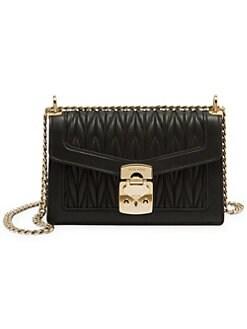 807f3f48618bf Product image. QUICK VIEW. Miu Miu. Matelassé Leather Crossbody Bag