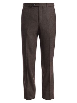 Saks Fifth Avenue Collection Micro Check Wool Trousers