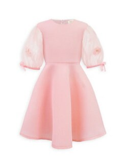 2e75c3a02a464 Little Girl's Puff-Sleeve Dress PINK. QUICK VIEW. Product image