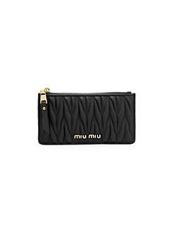 409ee16b52f QUICK VIEW. Miu Miu. Matelassé Leather Zip Wallet